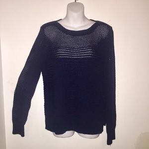 Tahari Open Weave Long Sleeves Sweater